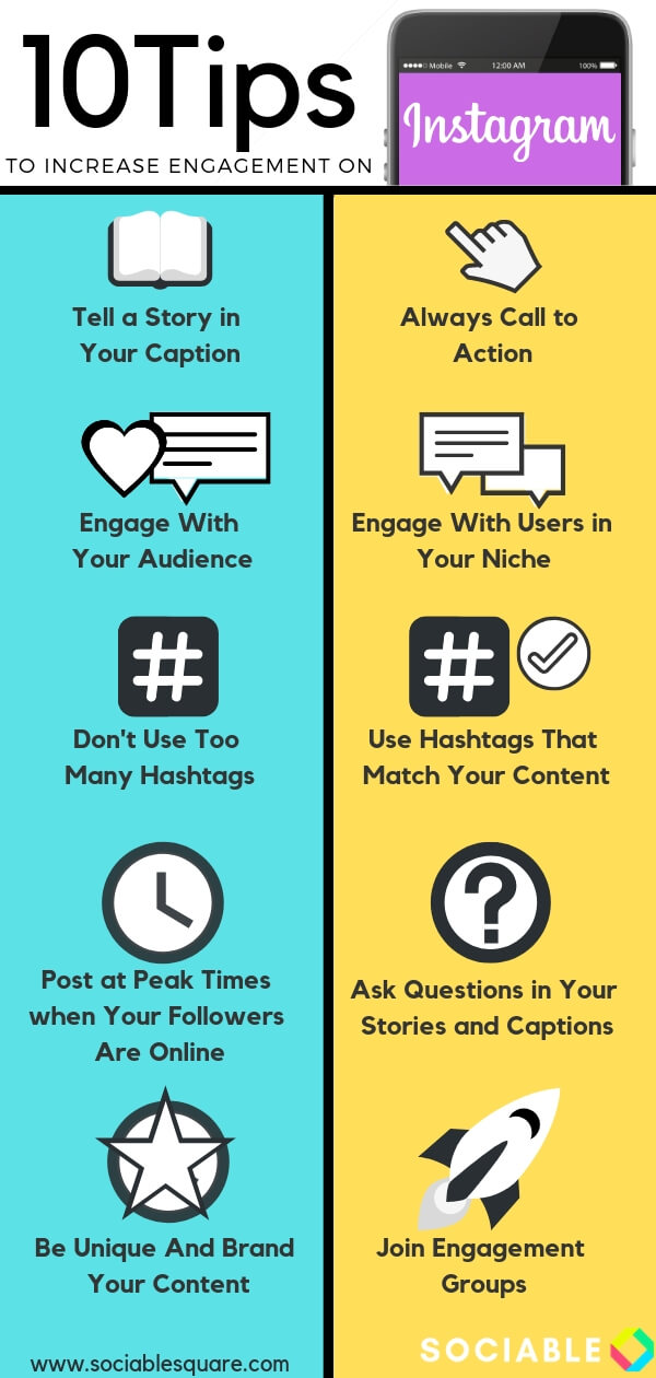 Infographic How to Increase Instagram Engagement